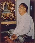 Sayagyi U Ba Khin meditating in the Centre of the Pagoda at IMC Yangoon